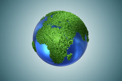 The earth globe in green environment concept - 3d rendering Royalty Free Stock Image