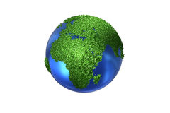 The earth globe in green environment concept - 3d rendering Stock Photo