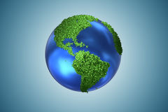 The earth globe in green environment concept - 3d rendering Royalty Free Stock Photos