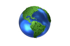 The earth globe in green environment concept - 3d rendering Stock Image