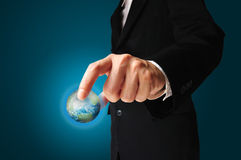 Earth Globe in Hand Royalty Free Stock Photo