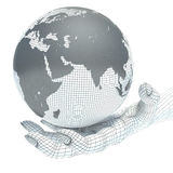 Earth globe and hands Royalty Free Stock Photos