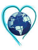 earth globe heart Royalty Free Stock Photography