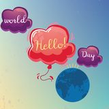 World Hello Day, 21 November. royalty free illustration