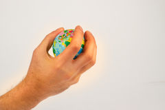 Earth globe in his hands Royalty Free Stock Images