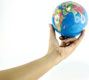 Earth. Globe ,earth in human hand Royalty Free Stock Photos