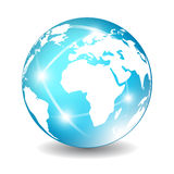 Earth globe icon. Vector illustration Stock Photo