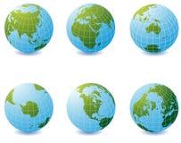 Earth globe icons Stock Photos