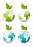 Earth globe icons Royalty Free Stock Images