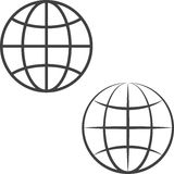 Earth globe icons Stock Photo