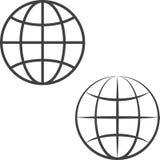 Earth globe icons Stock Photo