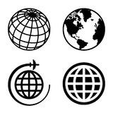 Earth Globe Icons Set Royalty Free Stock Photography