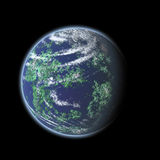 Earth globe illustration. At black background Royalty Free Stock Photos