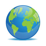 Earth Globe Illustration. On a white background Royalty Free Stock Photos
