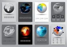 Earth globe infographic Stock Photos