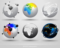 Earth globe infographic Stock Photography