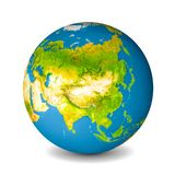 Earth globe isolated on whitebackground. Satellite view focused on Asia. Elements of this image furnished by NASA.  royalty free stock photos