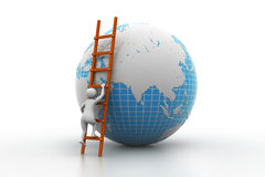 Earth globe and ladder Stock Image