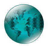 Earth globe with latitudes and meridians icon Stock Images