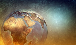 Earth globe with light Royalty Free Stock Images