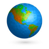 Earth globe low poly Stock Image