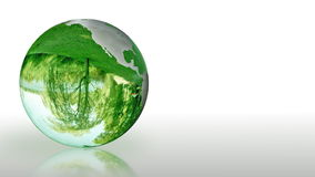 Earth Globe made of glass, environmental conservation, looping, stock footage Royalty Free Stock Photography