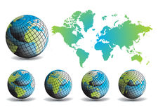 Earth globe and map background Royalty Free Stock Photos