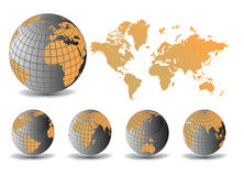 Earth globe and map background Stock Images