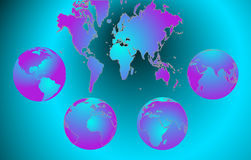 Earth globe and map background Royalty Free Stock Image