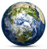 Earth globe map Stock Photography