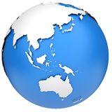 Earth globe model royalty free illustration