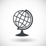 Earth globe model  flat icon Royalty Free Stock Images