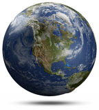 Earth globe - North America Royalty Free Stock Photography