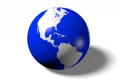 Earth, globe, ocean, America Royalty Free Stock Photos