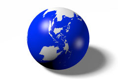 Earth, globe, ocean, Asia, Australia Stock Photos