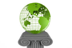 Earth globe on a pillar Royalty Free Stock Photos