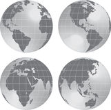 Earth globe planet view. Stock Images