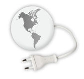 Earth globe with power cable. On white background Royalty Free Stock Photos