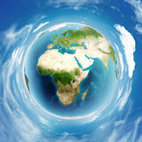 Earth globe real relief Stock Photos
