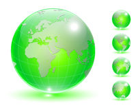 Earth globe set Royalty Free Stock Photography