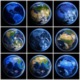 Earth globe set Royalty Free Stock Photo