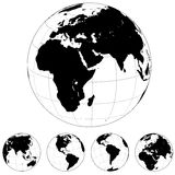 Earth globe shapes Stock Images