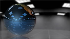 Earth Globe shiny metallic rotating,looping, stock footage Stock Photography