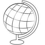 Earth globe. Simple lines earth globe stock illustration