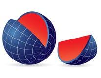 Earth globe slice Stock Photography