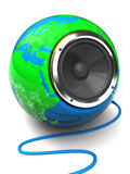 Earth globe speaker Stock Image