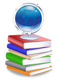 Earth Globe on Stack of Books Royalty Free Stock Image
