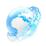 Earth globe symbol with arrow orbit Royalty Free Stock Photo
