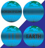 The earth (the globe) with the text. Royalty Free Stock Image