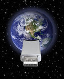 Earth globe with usb connection Royalty Free Stock Image